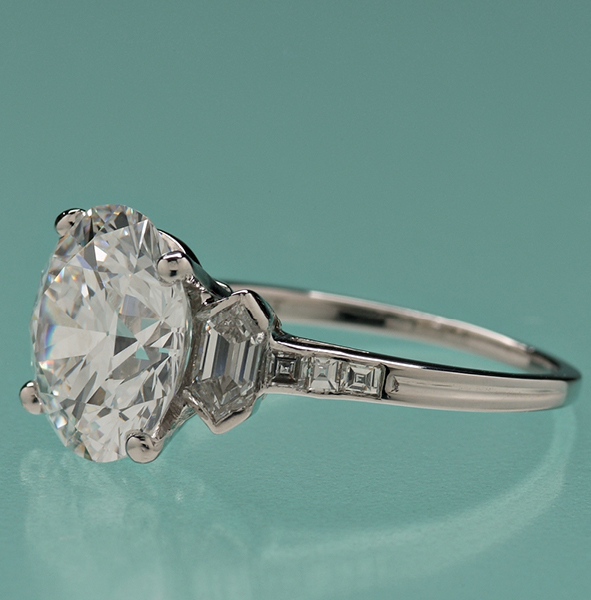 SOLD: $174,000 5.29 ct. Tiffany Diamond Ring
