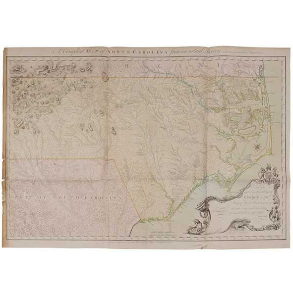 SOLD: $192,000 Important 18th Century North Carolina Map