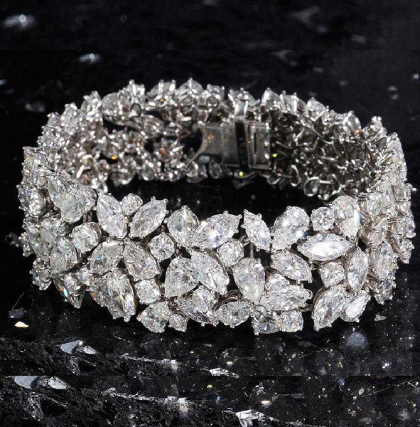 SOLD: $204,000 Important Cartier Platinum and Diamond Bracelet