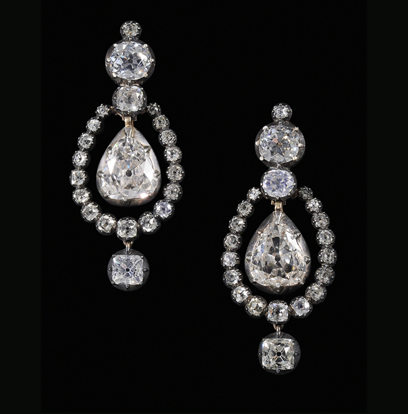 SOLD: $108,000 Rare 21 Carat Antique Diamond Earrings