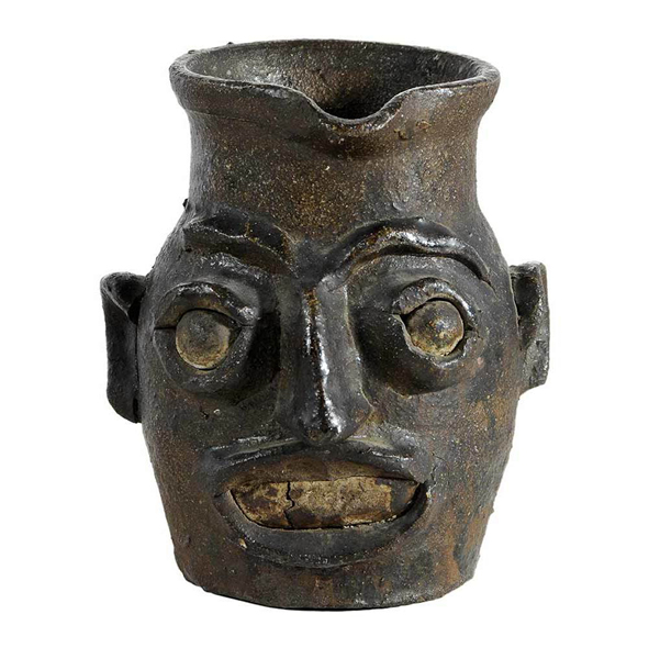 SOLD: $60,000 Rare Edgefield Face Pitcher