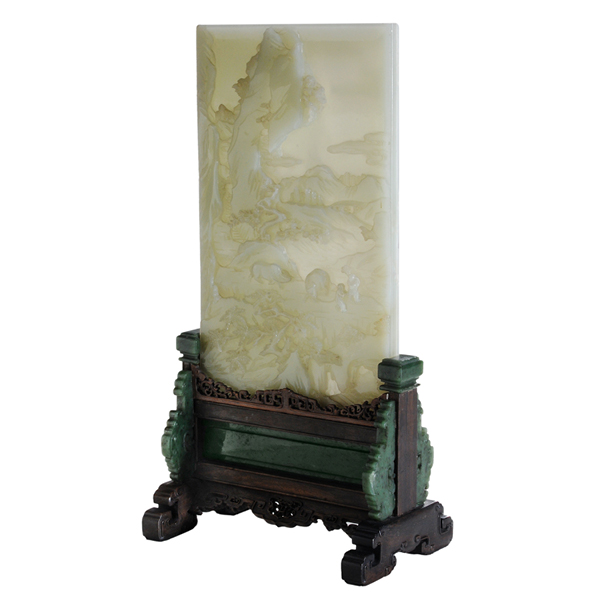 SOLD: $1,560,000 Very Fine Carved Pale Jade