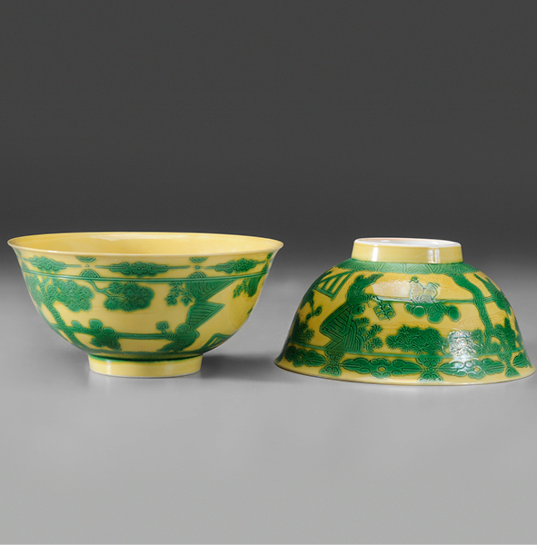"SOLD: $288,000 Pair ""Boys"" Porcelain Chinese Bowls"
