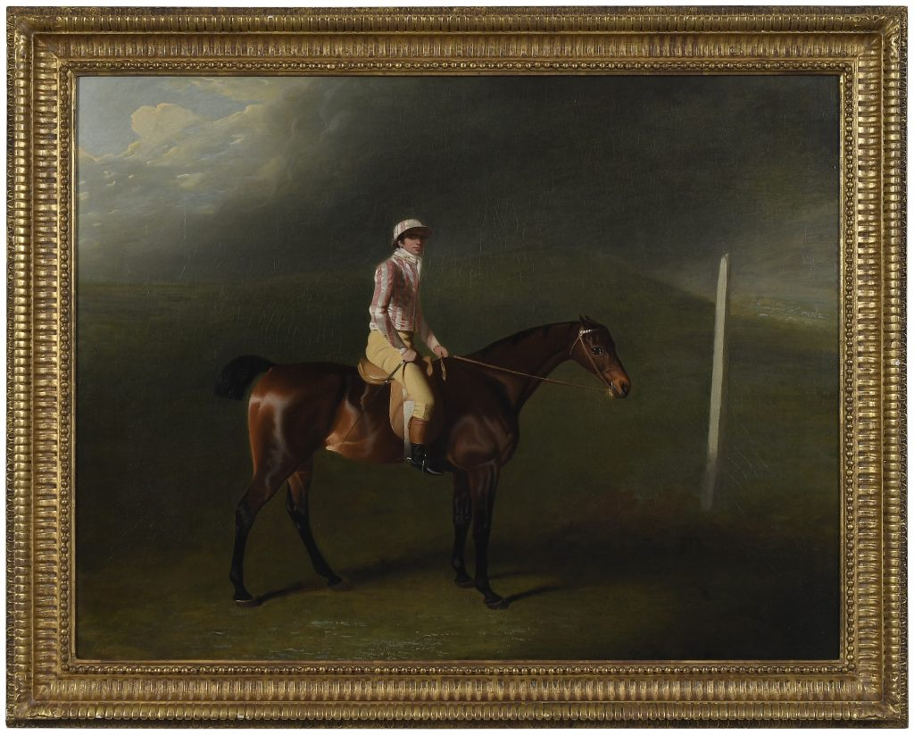 Benjamin Marshall (British, 1768-1835), Sir Charles Bunbury's Bay Filly with Jockey Up on Newmarket Heath, 1798, Estimate: $50,000 – $70,000. One of the highlights in our November 9, 2019 Inaugural Richmond Auction