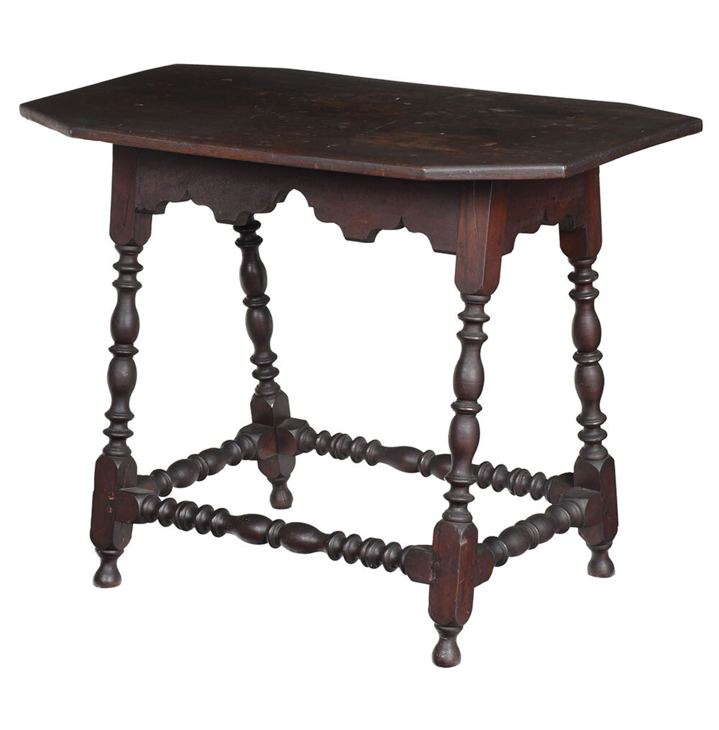 SOLD: $135,300 Fine Rare American William and Mary Table